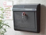 U.S. メールボックス ダークグレー